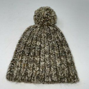 NWT Madewell Womens Brown Pompom Casual Beanie Hat